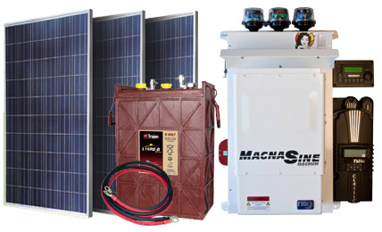12 Panel 48 Volt 2880 Watt Sierra Solar